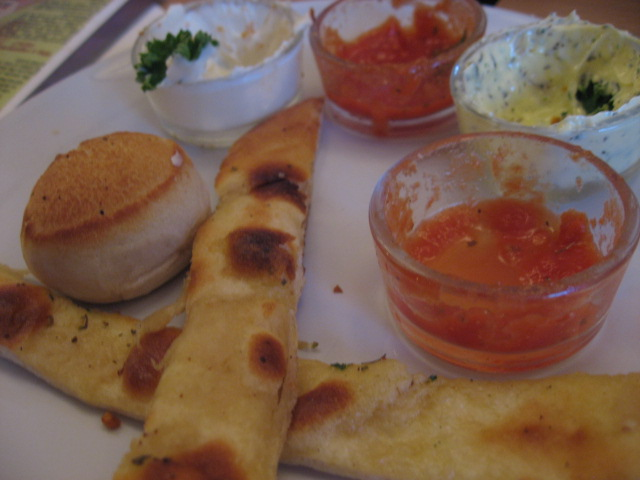 Dough balls and herbed bread