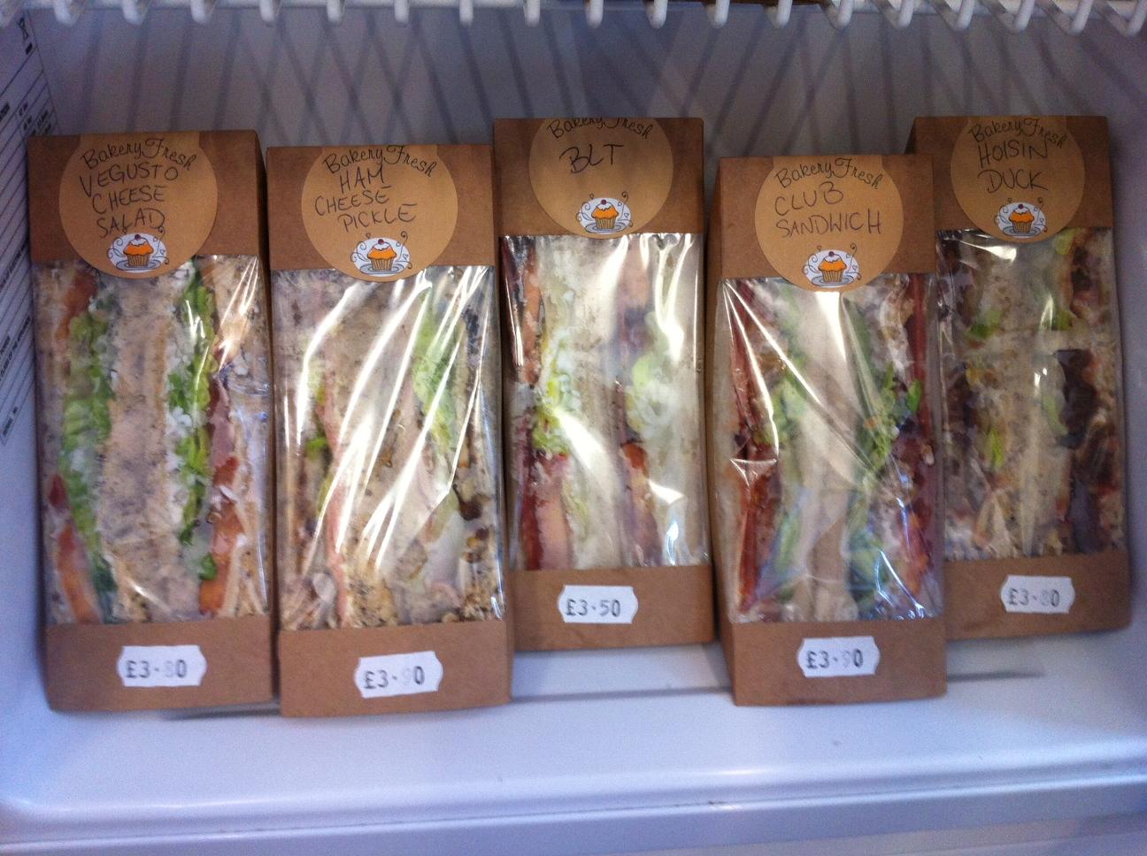 Gourmet to go vegan sandwiches