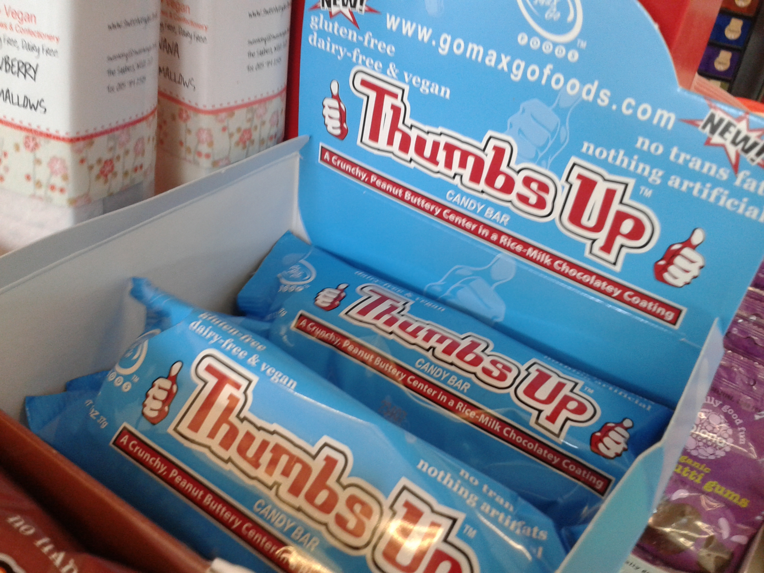 The new Thumbs Up candy bar by Go Max Go Foods