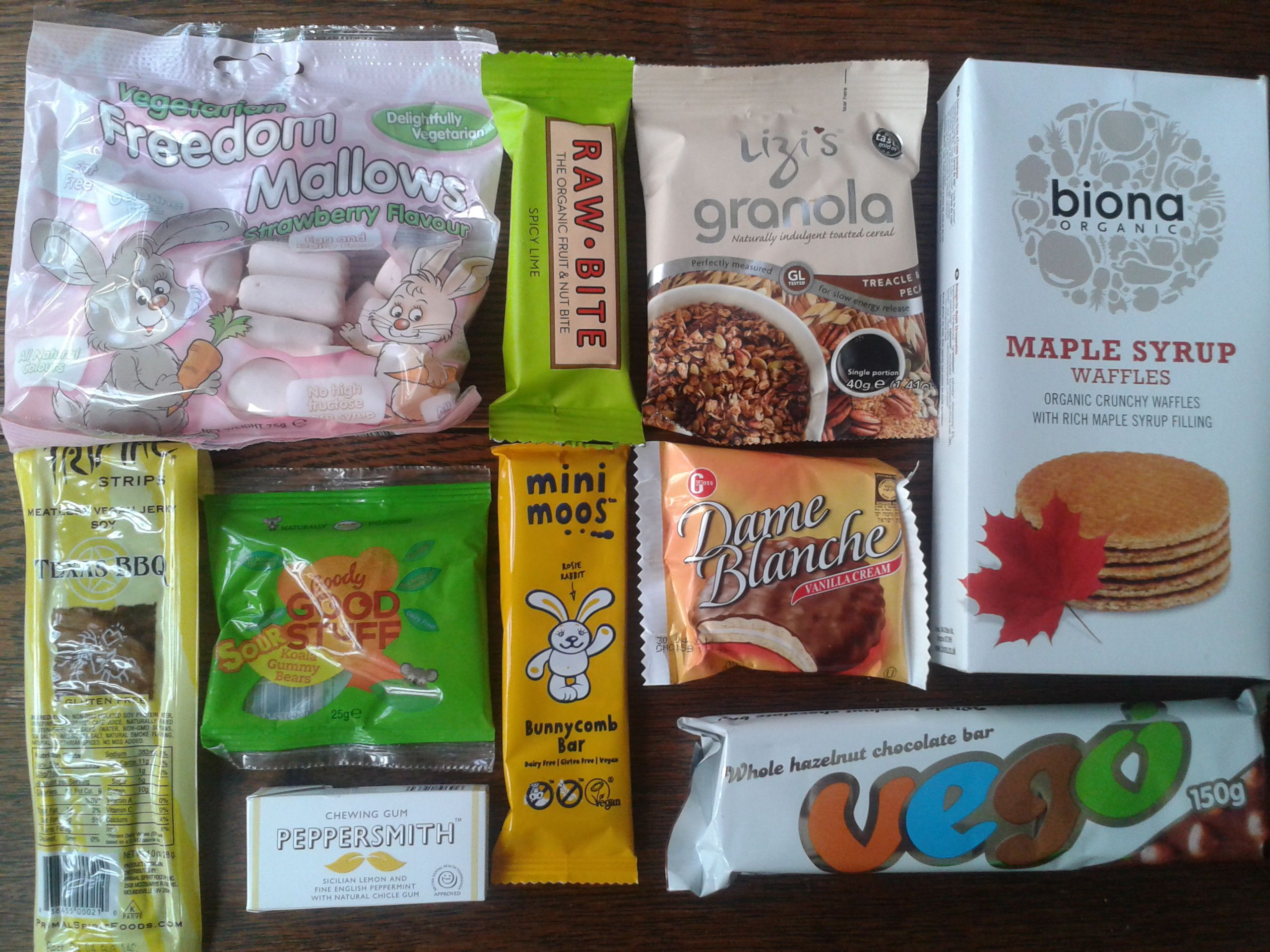 Inside my Vegan Tuck Box