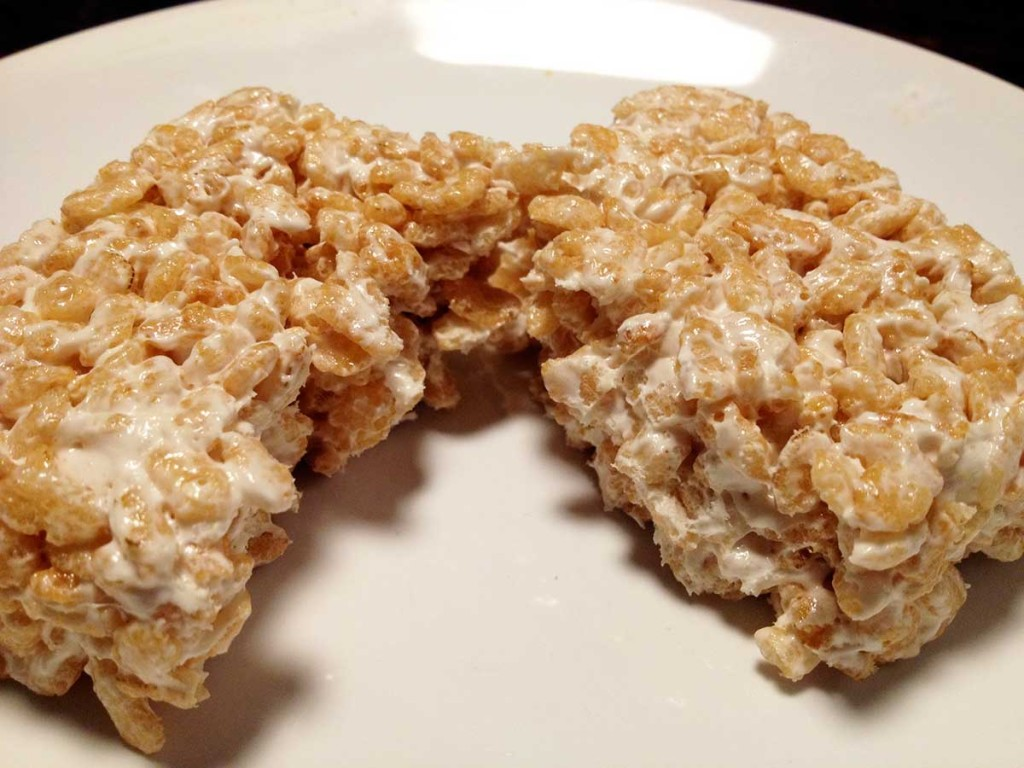 3 Sweet and Sara rice crispy square cut open