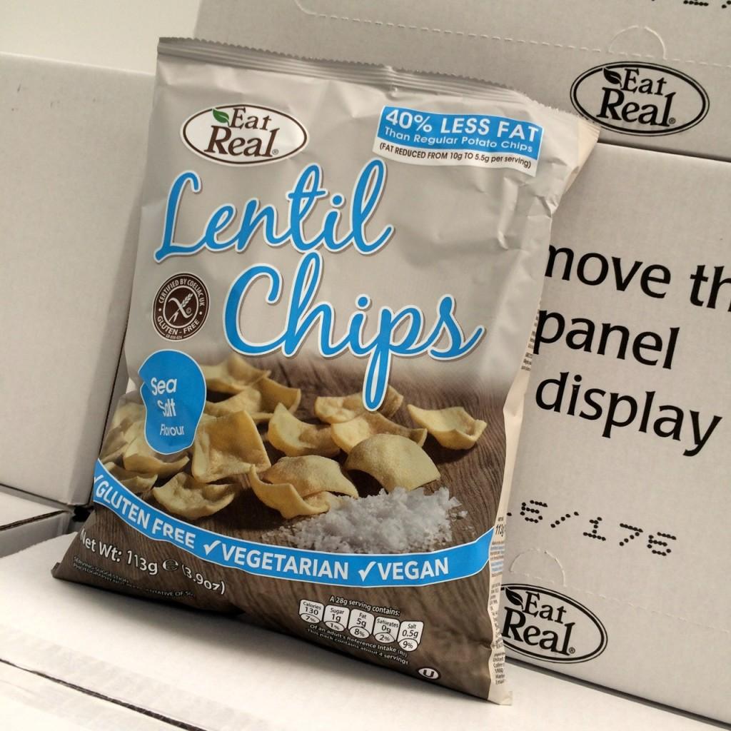 Lentil chips at Just V Show