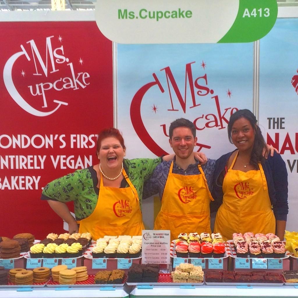 Ms Cupcake crew at Just V Show