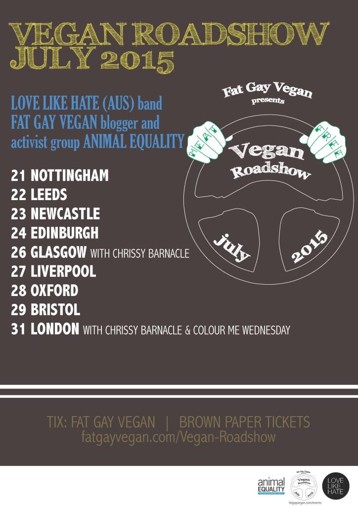 Fat Gay Vegan Roadshow Poster