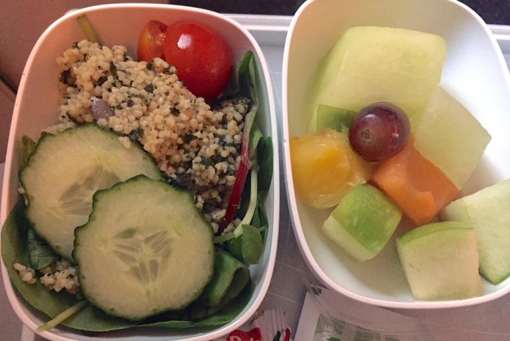 Side salad and fruit salad