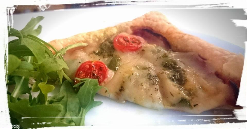 FGV Pizza slice with homemade moxxarella