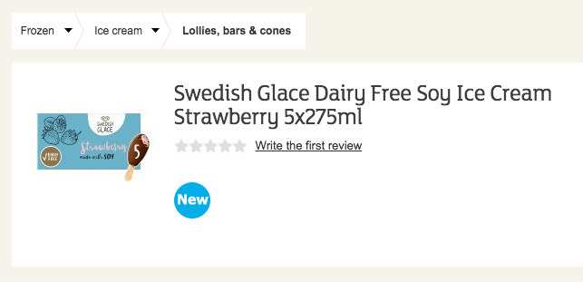 New Swedish Glace in Sainsbury's