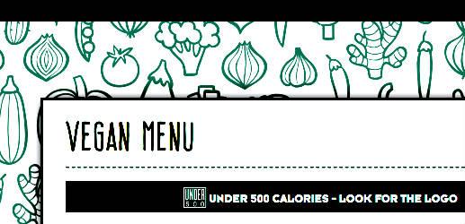 UK pub chain has a vegan menu