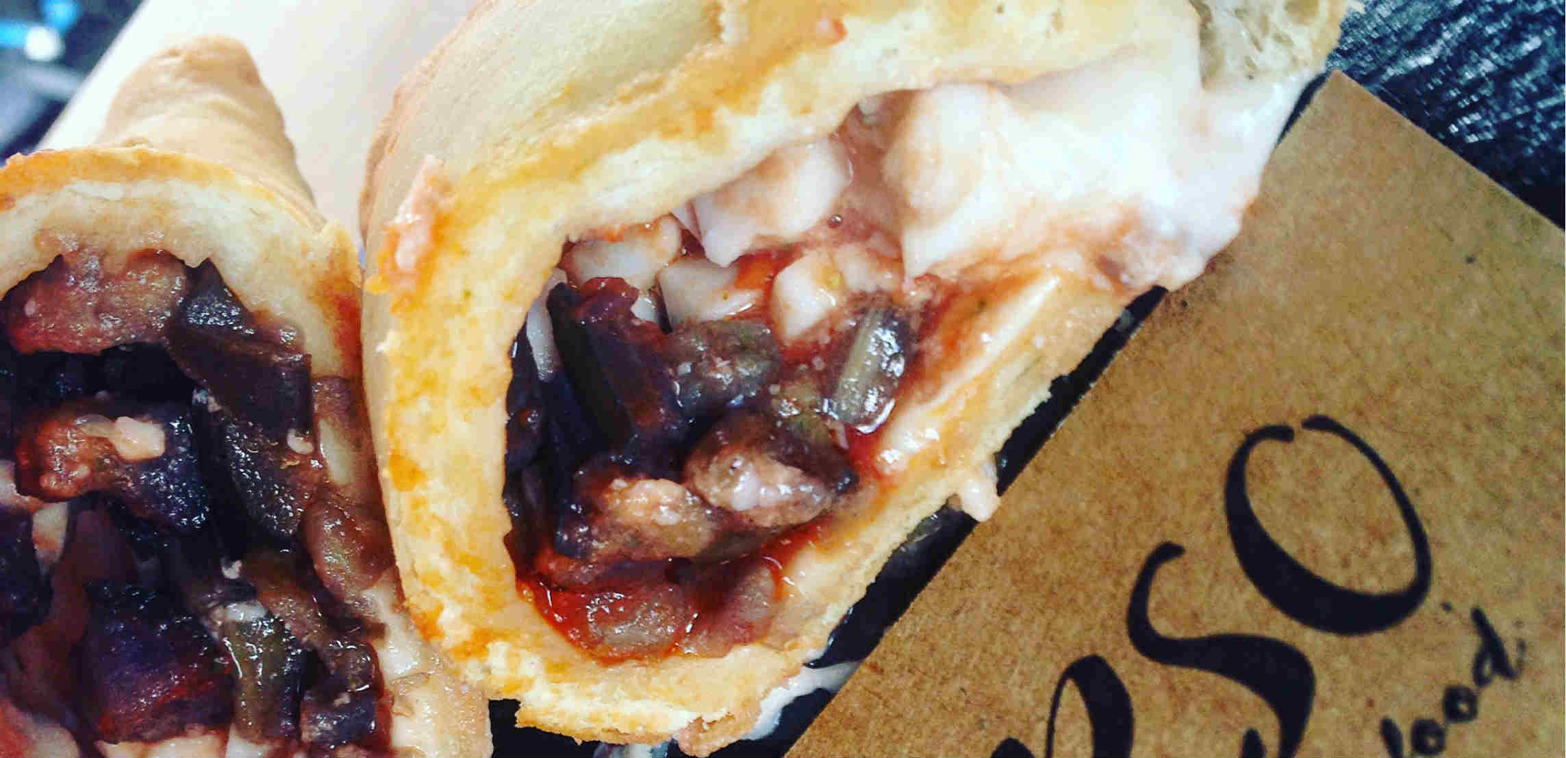 Glorious vegan calzone comes to London