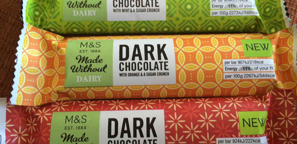 New vegan chocolates at Marks & Spencer