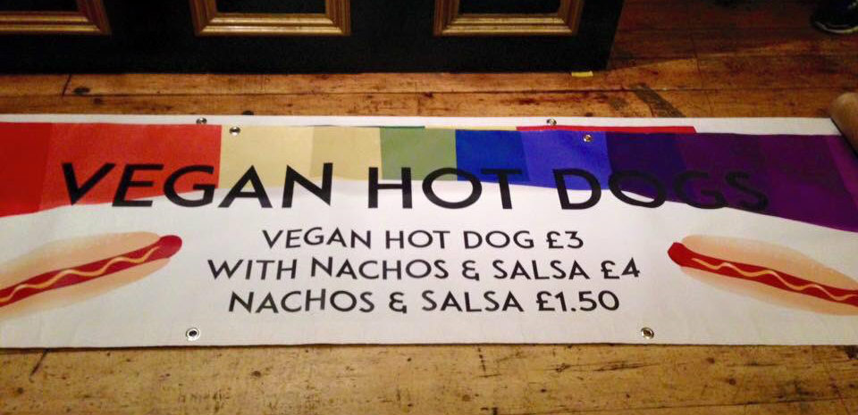 Vegan hot dogs at Pride
