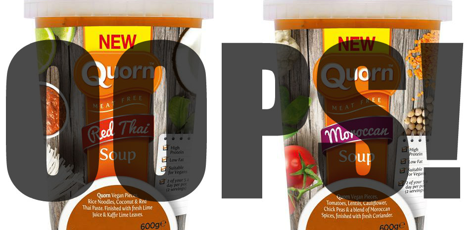 Vegan Quorn recalled for not being vegan!
