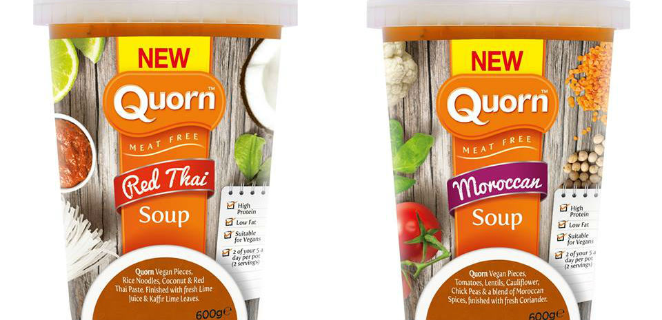 Quorn launch vegan soups