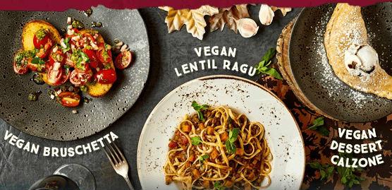New vegan dishes at Zizzi