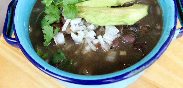 Make frijoles charros