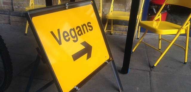 Non-vegan café switching to vegan