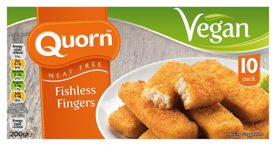 Vegan fish fingers