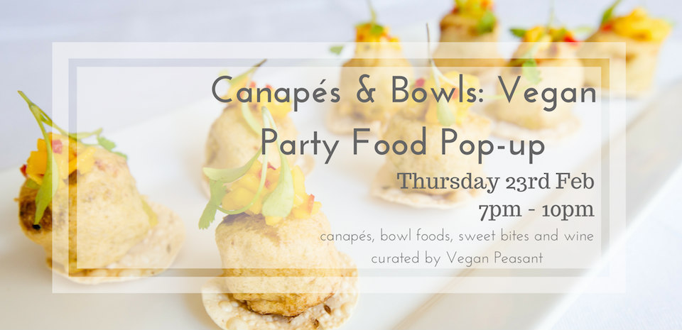 Vegan pop up event