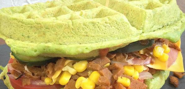 Waffle sandwich delight