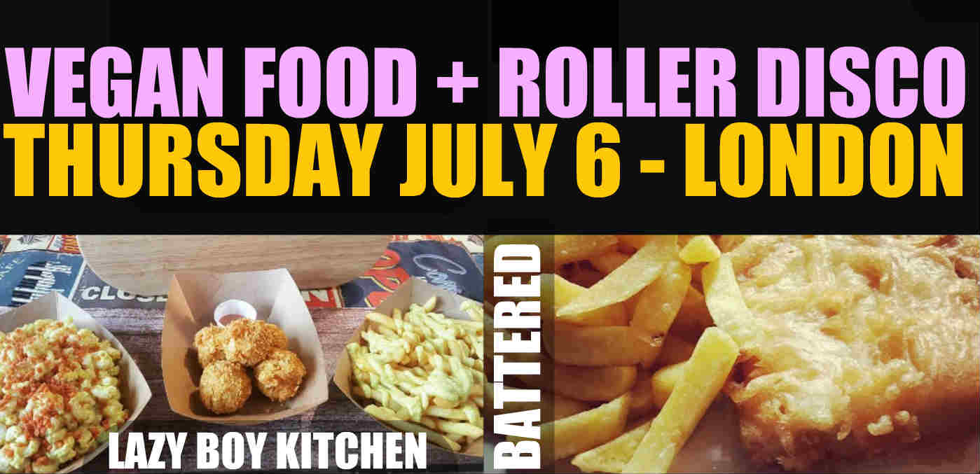 Vegan night market and roller disco