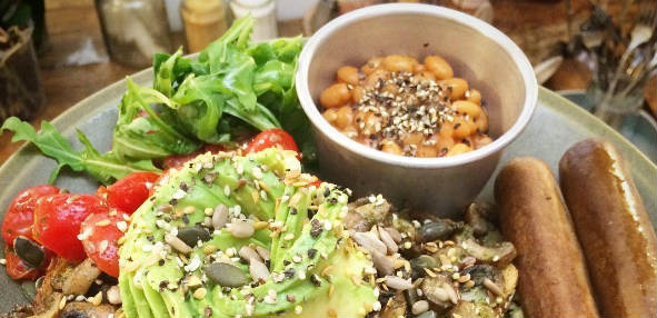 London cafe turns completely vegan