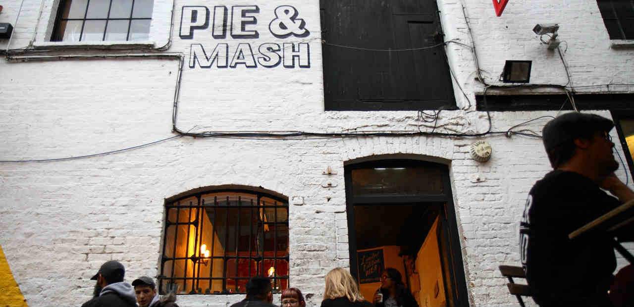 Vegan pie and mash shop