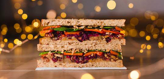 New vegan Christmas sandwich at Pret