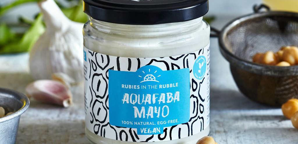 Vegan mayo made from aquafaba