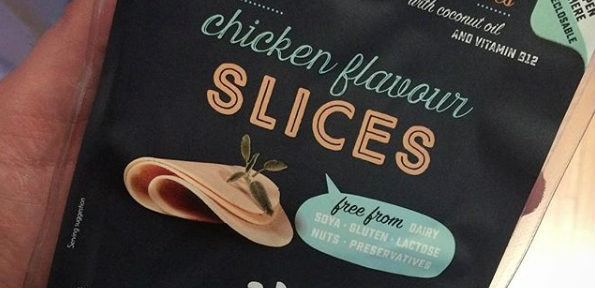 New chicken flavour vegan cheese