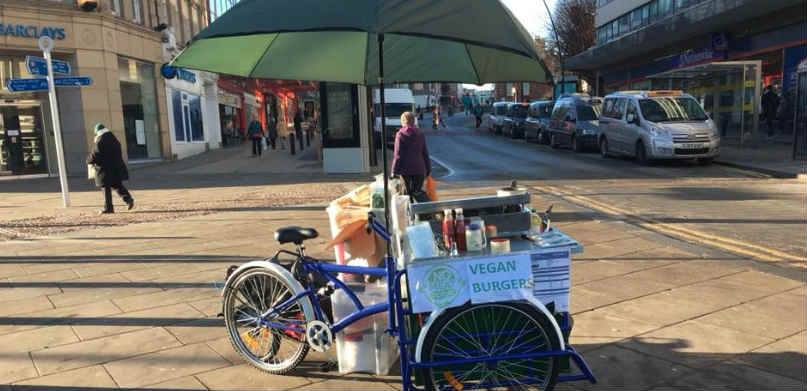 Vegan food trike in Sheffield