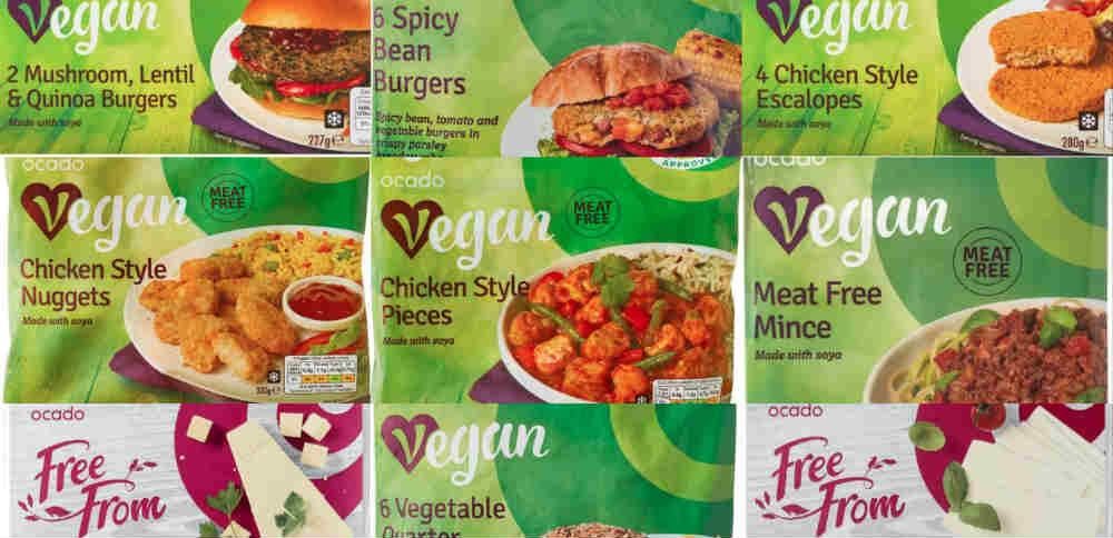 New vegan items from Ocado