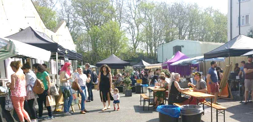 Traders for the return of Hackney Downs Vegan Market