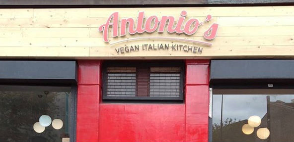 Vegan Italian restaurant in east London