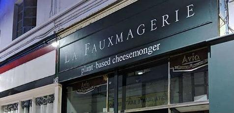 Vegan cheese shop in London