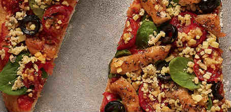 New vegan chicken pizzas by Fry's