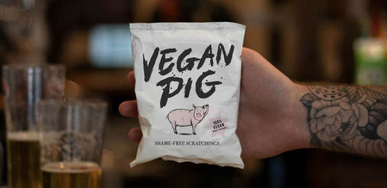 Vegan pork scratchings