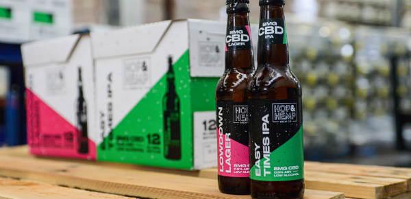 Low alcohol vegan CBD beer