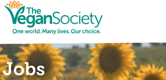 Vegan jobs with The Vegan Society
