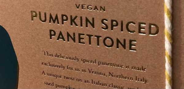 Vegan panettone in Selfridges UK