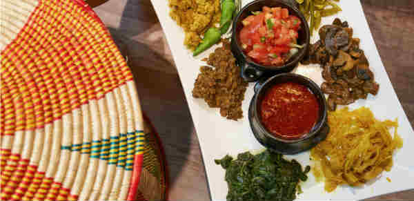 Vegan Ethiopian food in South London