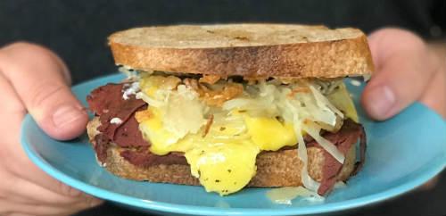 DIY vegan Reuben sandwich kit