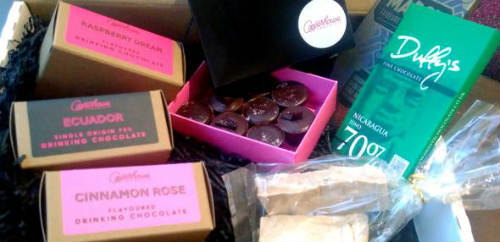 Order vegan chocolate hampers